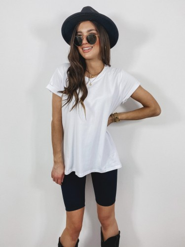 T-SHIRT BLACE WHITE